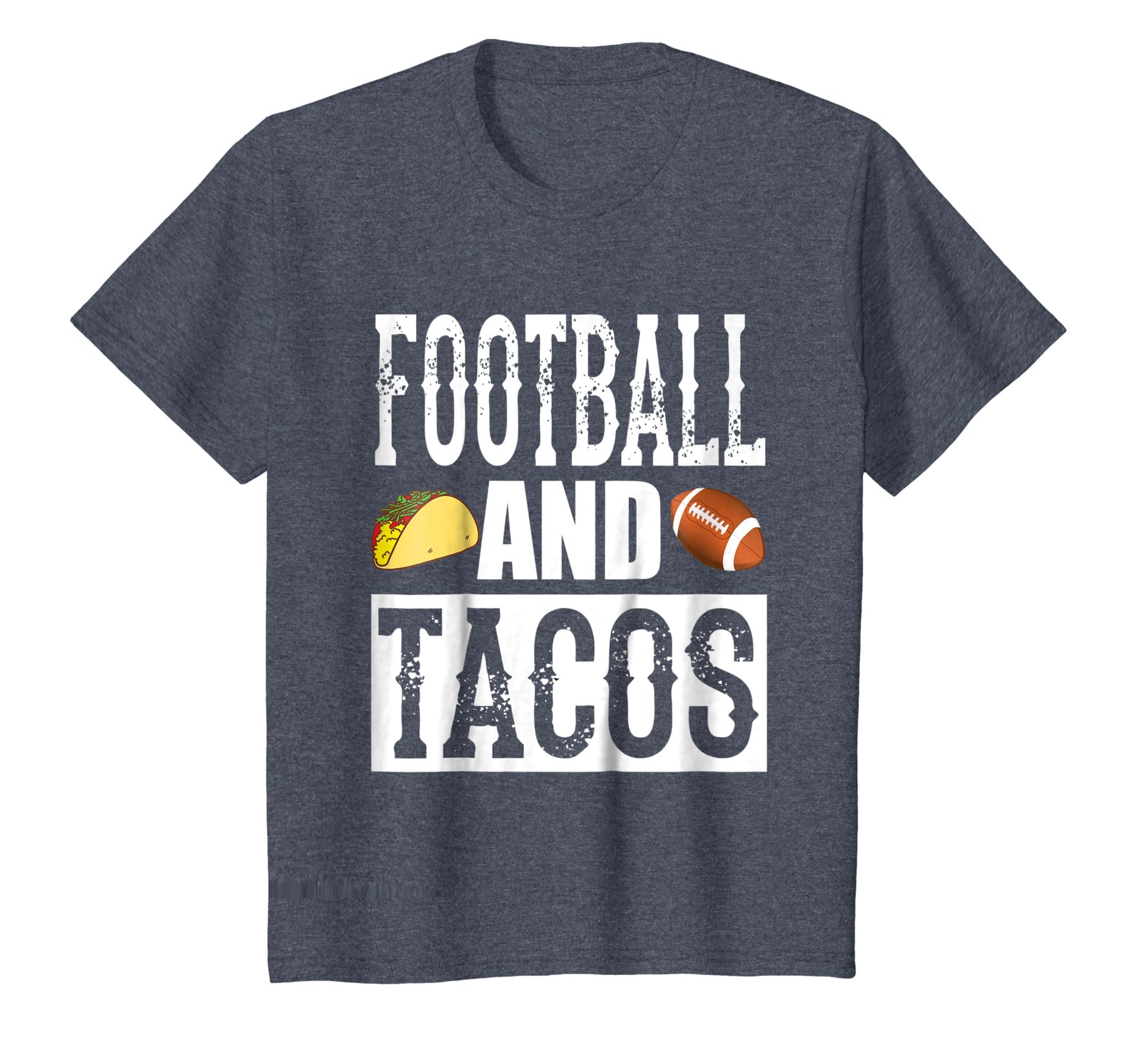 Amazon.com  Football and Tacos Funny Taco T-Shirt  Clothing 00b8480af2234
