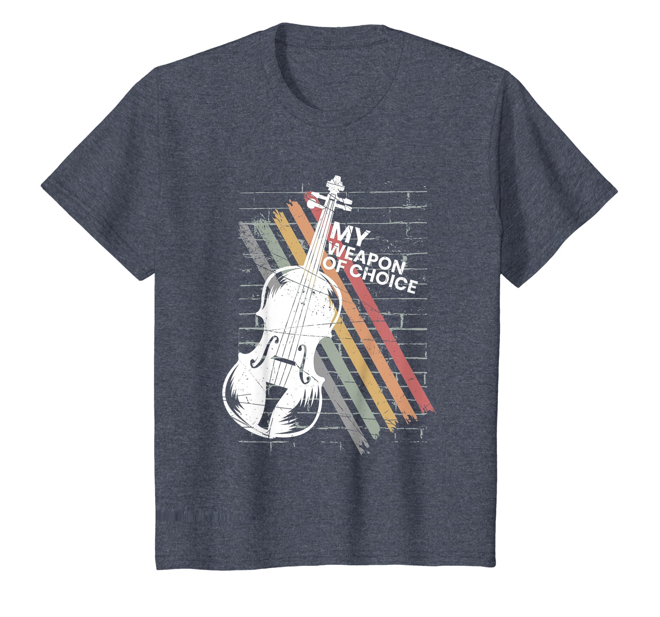 e2981a28 Amazon.com: Cool Violin Silhouette Bow Strings Fiddle Slogan T-Shirt:  Clothing