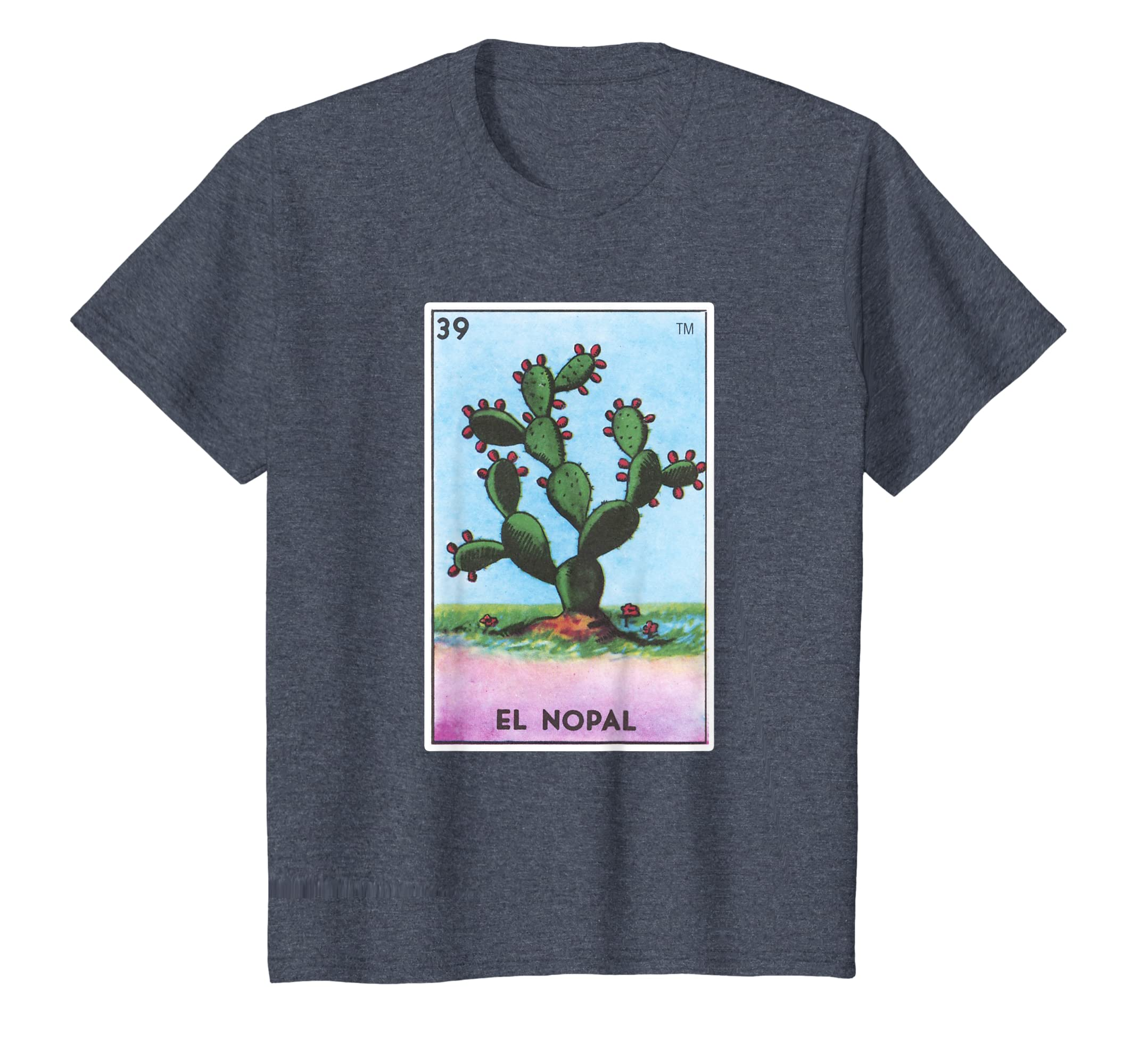 9d30a1f60 Amazon.com: El Nopal Card Loteria Shirt Mexican Prickly Pear Cactus:  Clothing