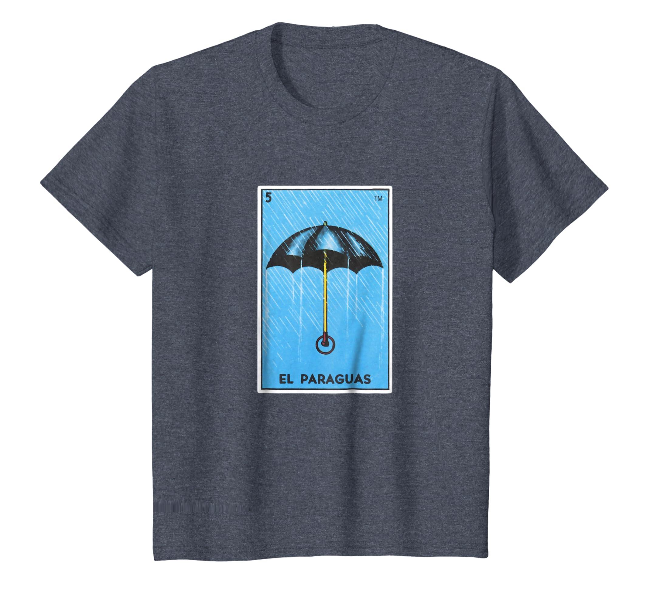 Amazon.com: El Paraguas Loteria Shirt Mexican Bingo Rain Umbrella Card: Clothing