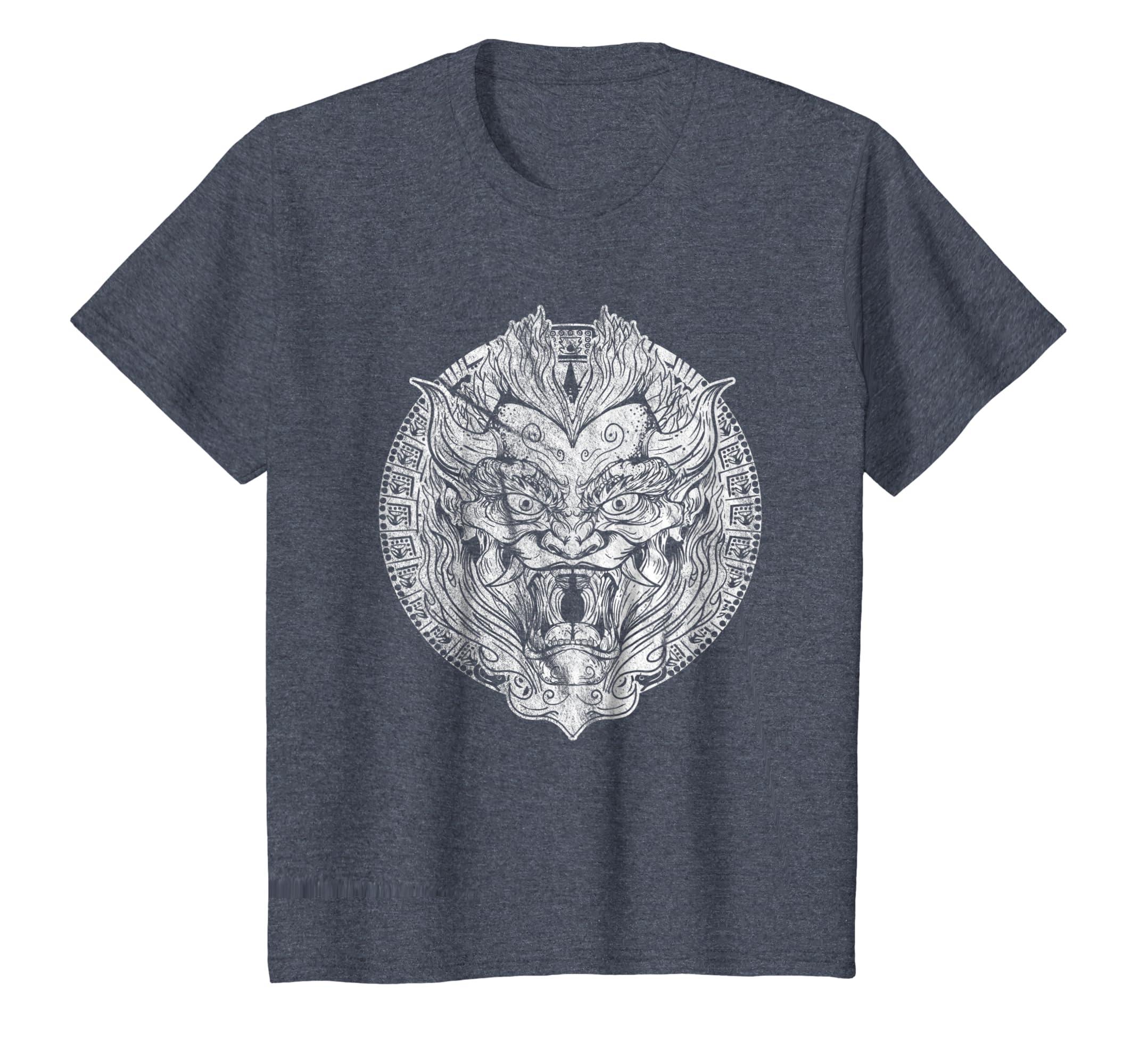 2bef414abd Amazon.com  Designer japanese Oni Demon mask mens ladies t -shirt  Clothing