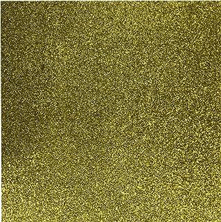 "American Crafts DuoTone Glitter Cardstock 12""x12""-Gold 15 per pack"