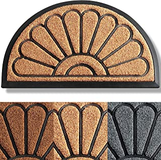 ubdyo Extra Durable Spring Door Mat - Welcome Mats for Front Door - Door Mats for Outside Entry - Half-Round Welcome Mat -...