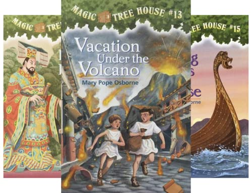 Magic Tree House, Books 13-16: Vacation Under the Volcano, Day of the Dragon King, Viking Ships at Sunrise, and Hour of the Olympics