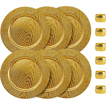 Amazon Com Classic Gold Round Disposable Charger Plates 20pc Saucers