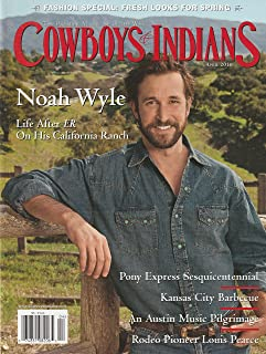 Cowboys & Indians Magazine (Noah Wyle on Cover, April 2010)