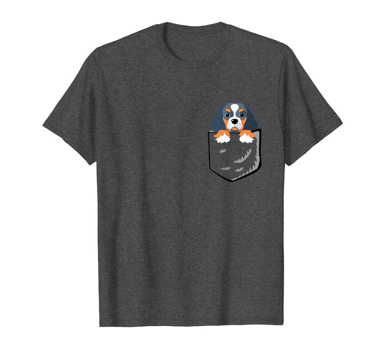 Cavalier King Charles Spaniel In The Pocket T-shirt