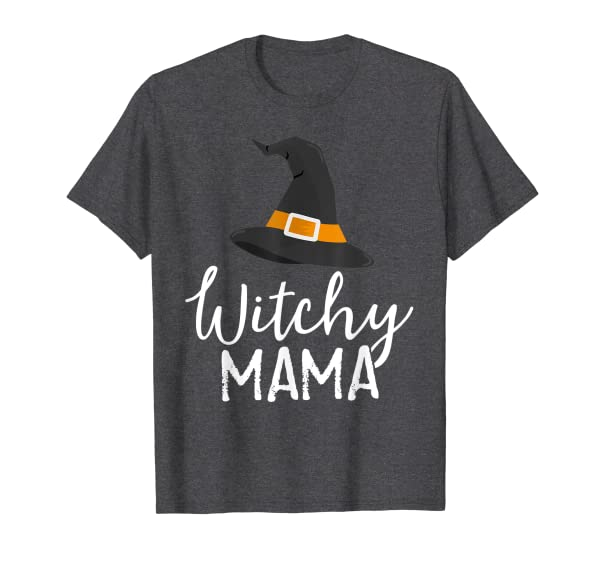 Witchy Mama Halloween Witch Outfit Costume Mom Mother T-Shirt