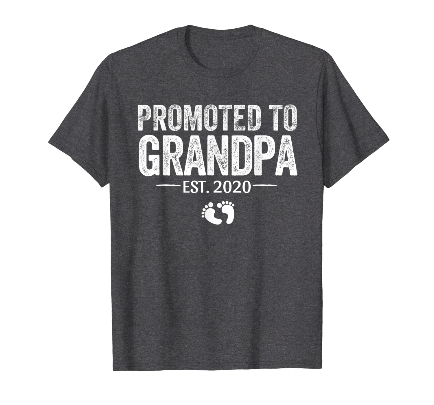 Mens Promoted to Grandpa 2020 T Shirt Pregnancy Announcement-TH