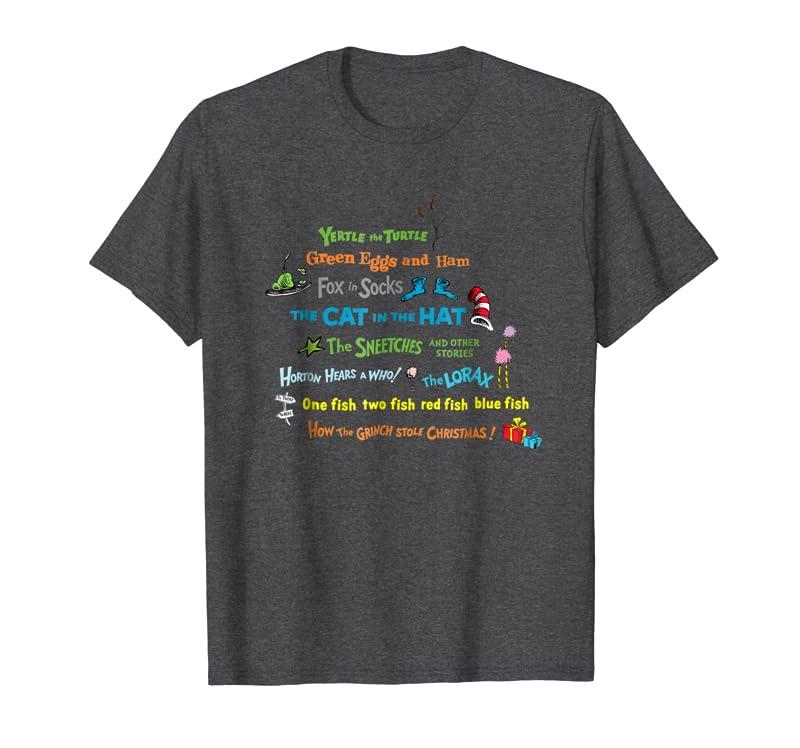 Dr. Seuss Book Title T-shirt Gift Trending Design T Shirt, dr seuss tshirts