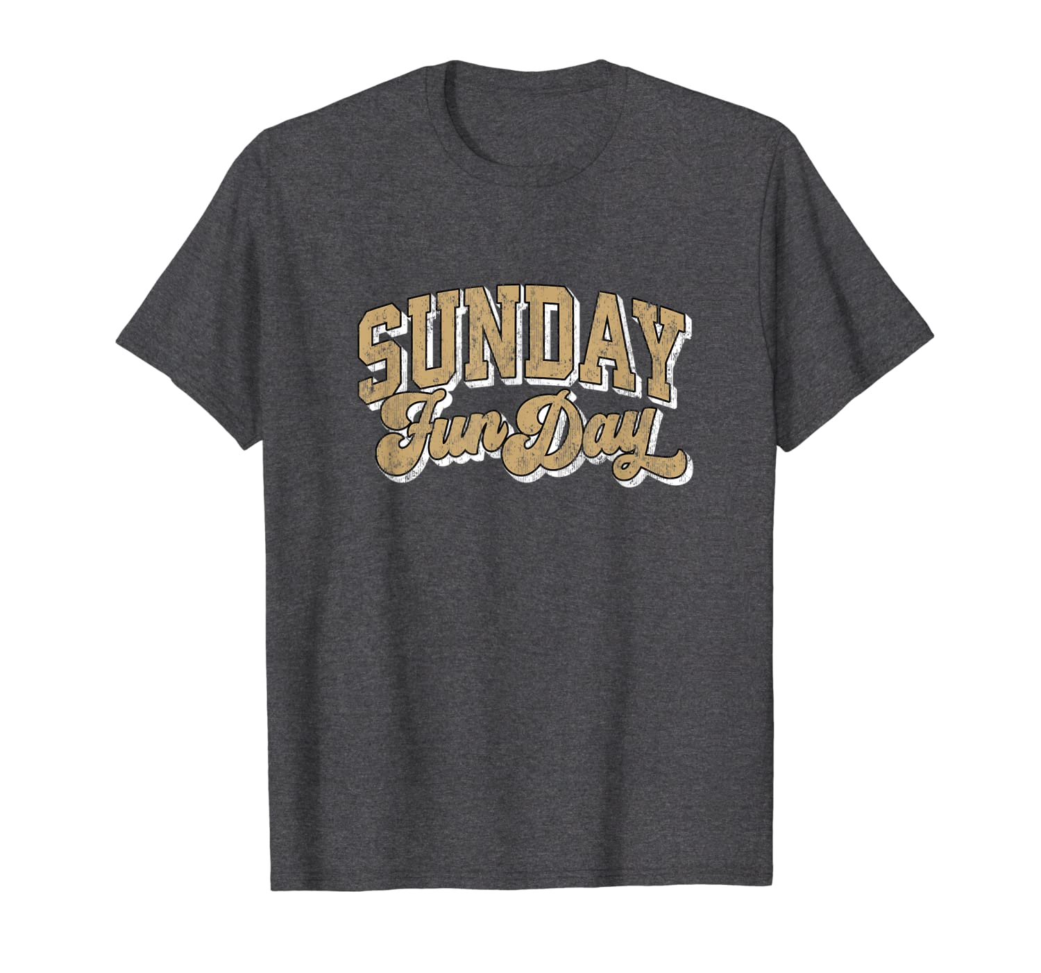 Vintage Sunday Funday New Orleans Football Retro Fun Day T-Shirt-TH