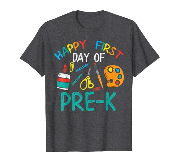 Happy First Day Of Pre K Prek Kindergarten Boys Girl Teacher T-Shirt