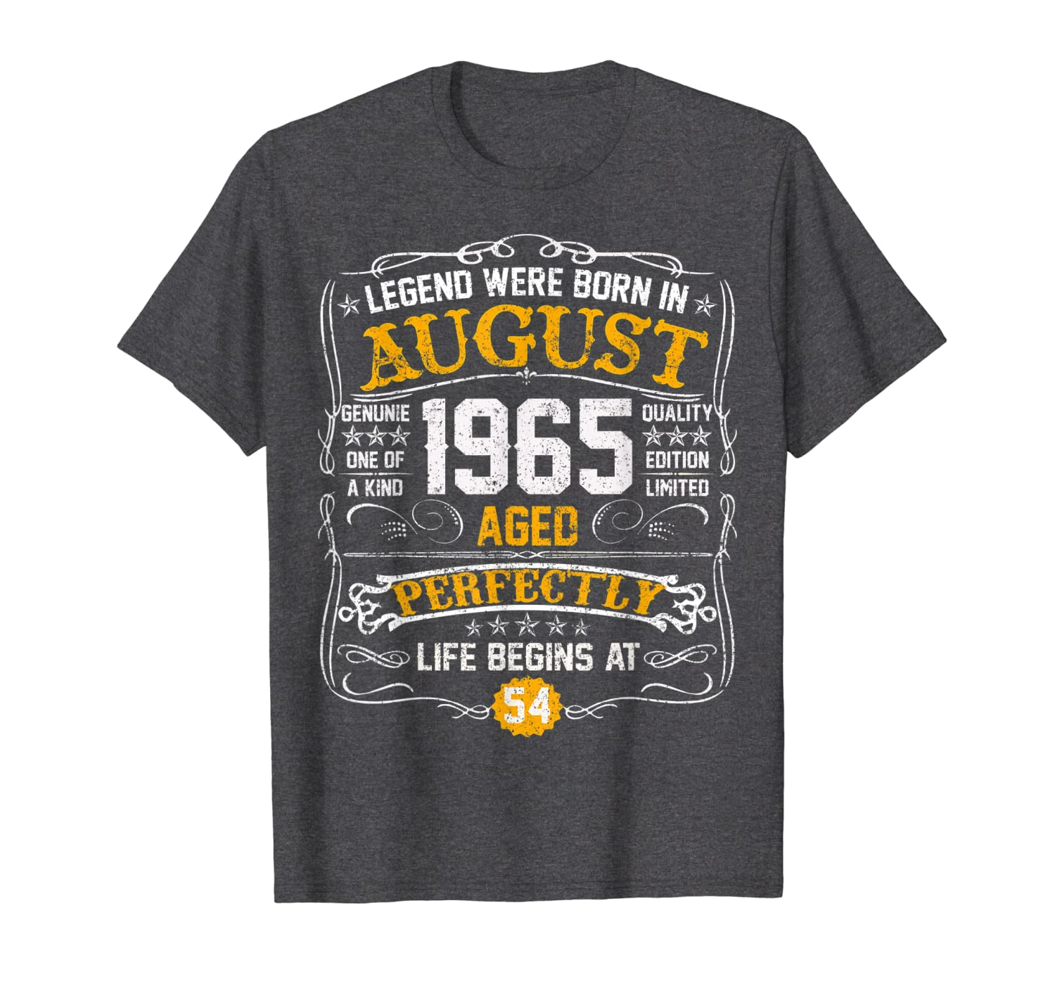 Vintage August 1965 54th birthday gift 54 years old Tshirt