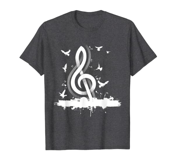 Musician Music Notes Birds Tree Treble Clef Classical Music T-Shirt