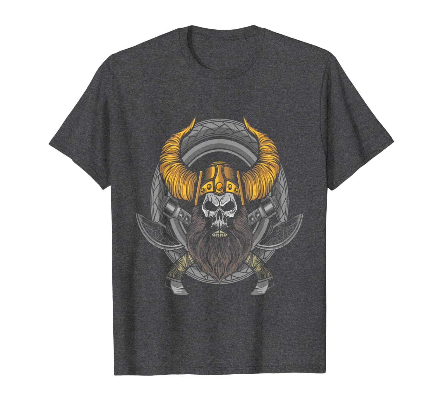 Skull Bike Viking 4th of july Halloween Christmas Motorcycle T-Shirt-TH