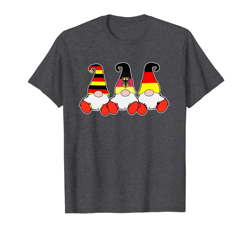 3 German Gnomes Germany Flag Cute Deutsche Deutschland Sweatshirt Gift Trending Design T Shirt