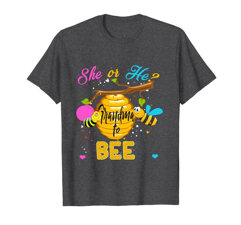 Gender Reveal What Will It Bee Tee He or She Grandma Tee Long Sleeve T-Shirt Gift Trending Design T Shirt
