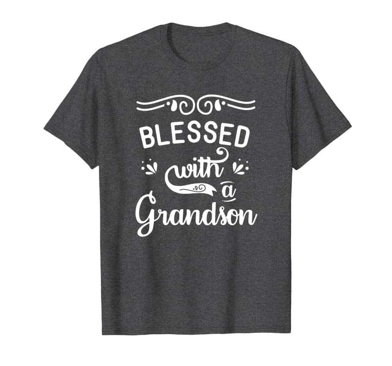 Blessed with a Grandson Baby Announcement Reveal Grandma Sweatshirt Gift Trending Design T Shirt