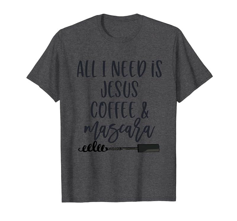 Cute Religious Gift for Mom Grandma Teen Coffee and Jesus Sweatshirt Gift Trending Design T Shirt