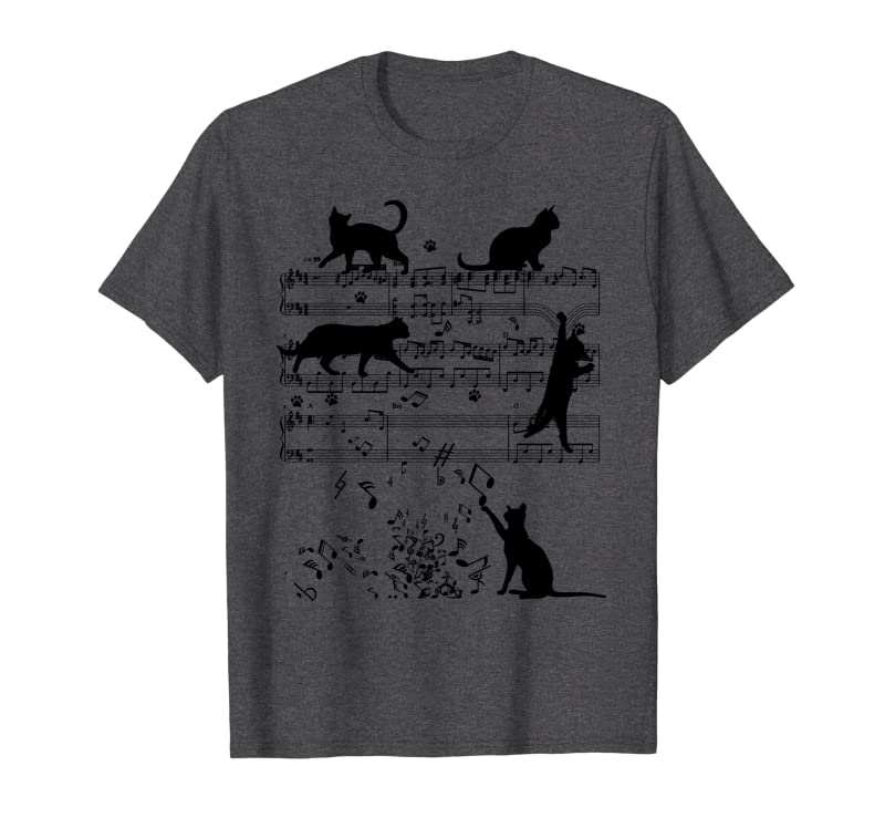 Cute Cats Playing With Music Notes  Funny Musician Gift Sweatshirt Gift Trending Design T Shirt