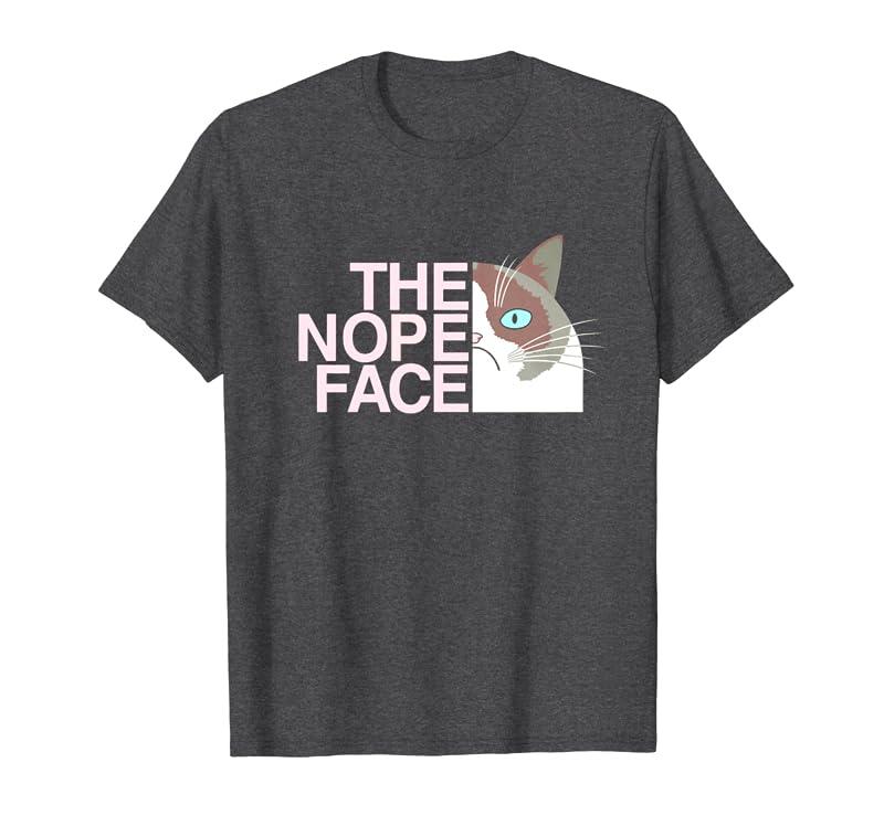 The Nope Face  Funny Lazy Cat Joke Tee for Men & Women Sweatshirt Gift Trending Design T Shirt