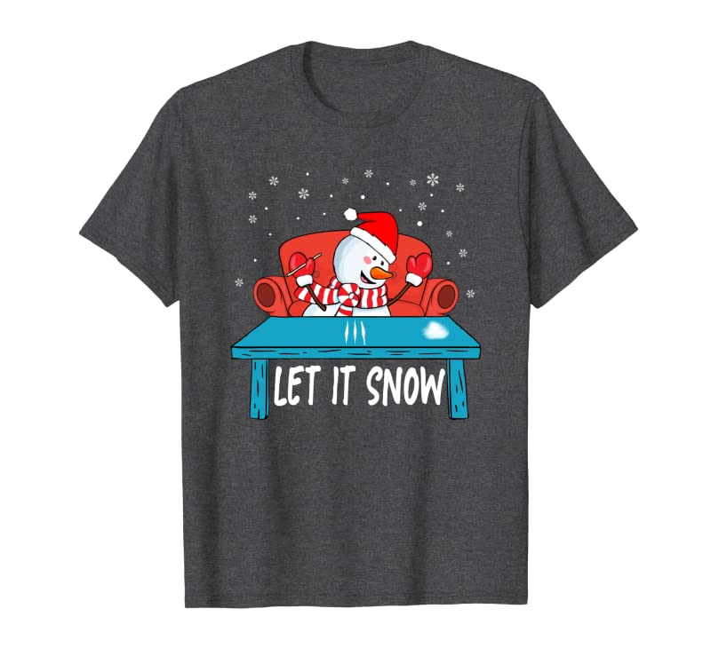 Cocain Funny Let It Snow Party Cocain Snowman Christmas Xmas Sweatshirt Gift Trending Design T Shirt