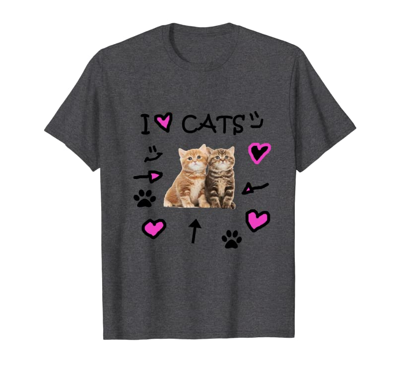 I Love Cats and Kittens – Cute Cat Lover Hearts and Paws Sweatshirt Gift Trending Design T Shirt