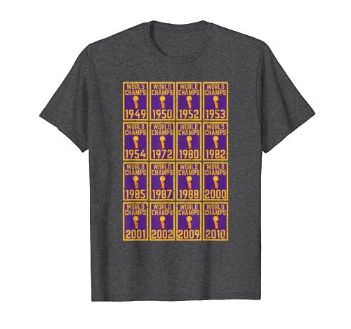 Los Angeles La Sports Championship Basketball Banner Title T Shirt