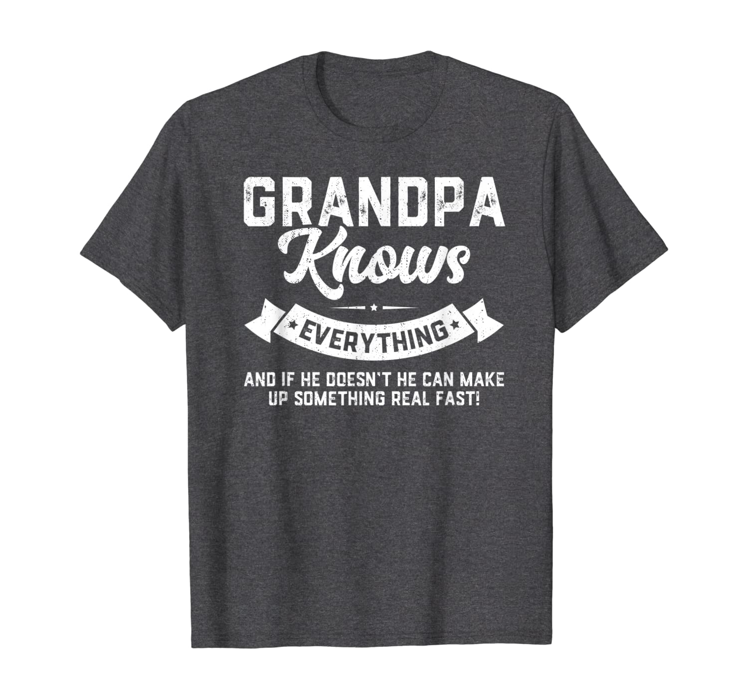 Mens Grandpa Knows Everything Shirt 60th Gift Funny Fathers Day T-shirt - Dad T Shirts Up To 5xl