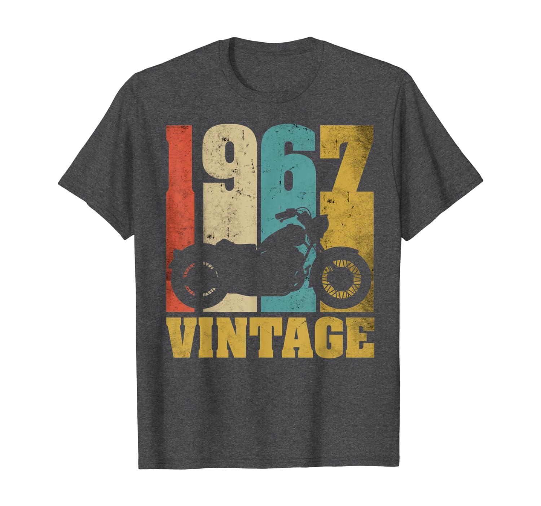 53 Anniversaire Cadeau Motard T-Shirt Vintage 1967 Moto T-Shirt