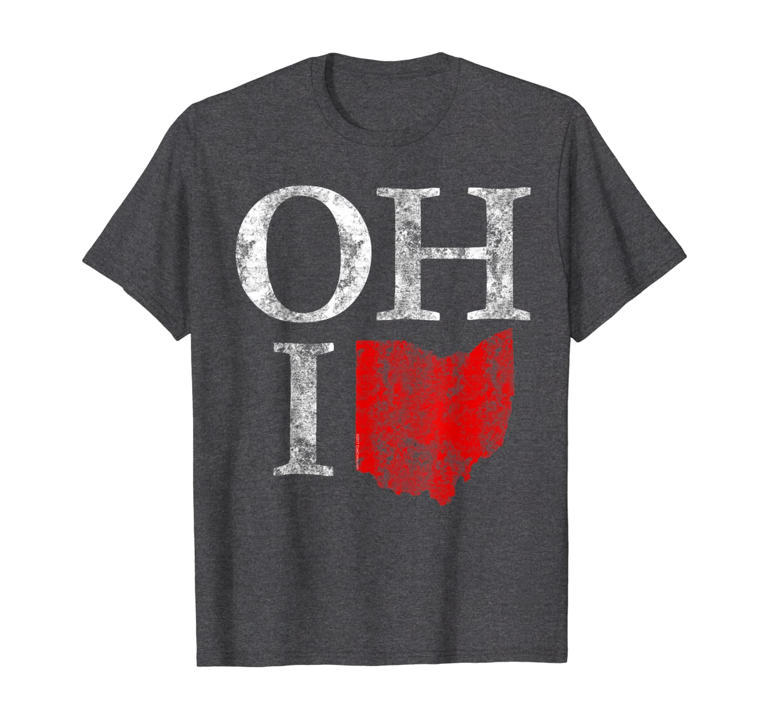 Ohio Home Shape State Vintage Grunge T-Shirt