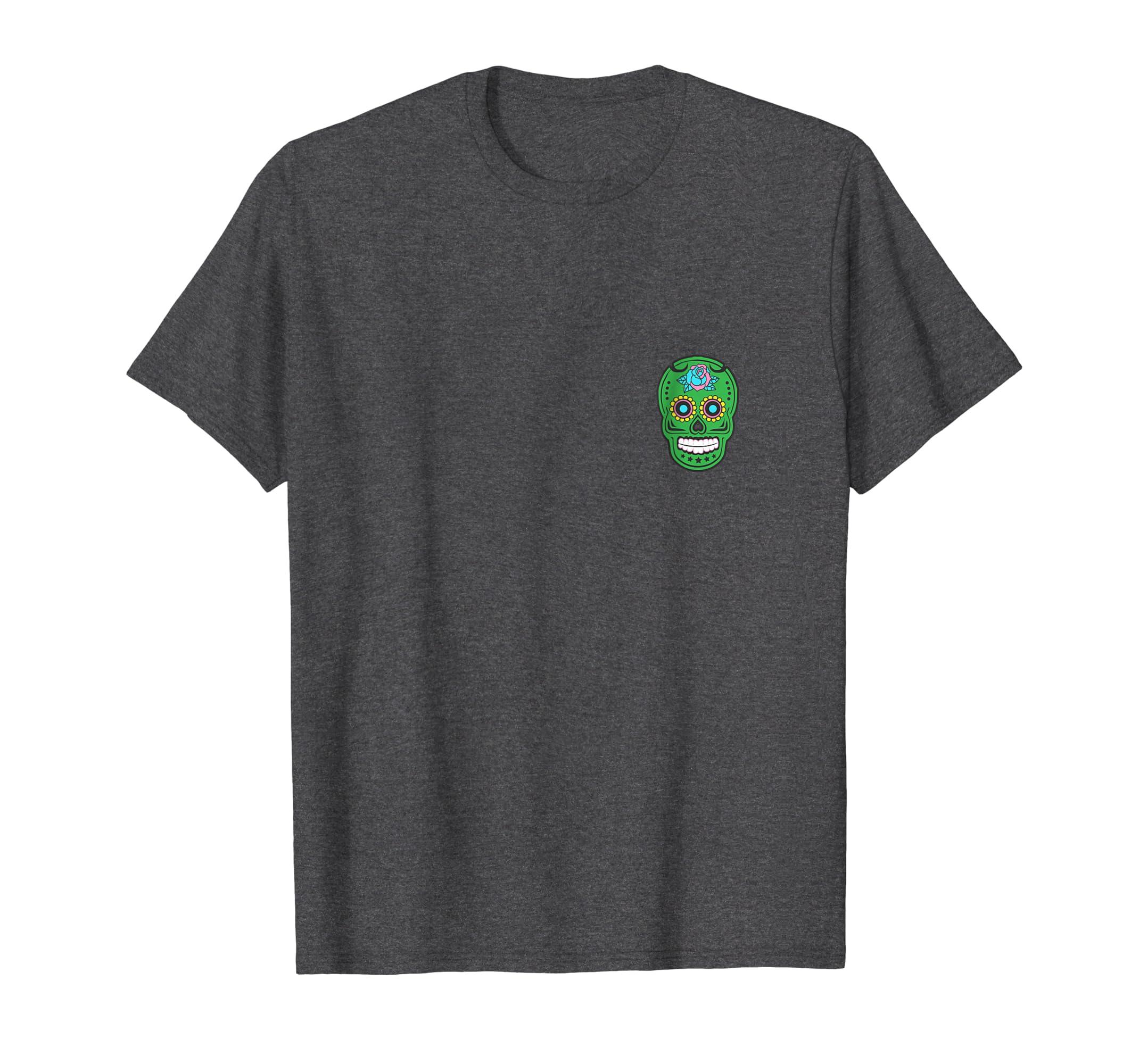 1a541415 Amazon.com: Suspicious Sugar Skull Logo Green Men Women Antwerp T Shirt:  Clothing