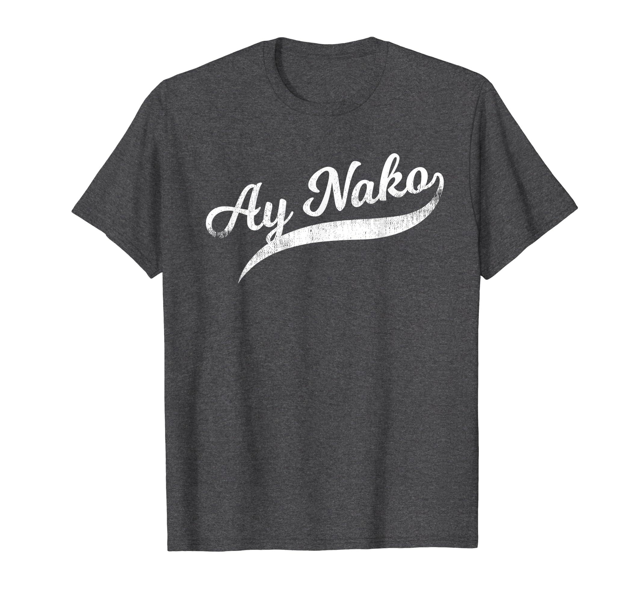 54b9ea17a Amazon.com: Funny Filipino T-Shirt - Ay Nako OMG Tail Script Tee: Clothing