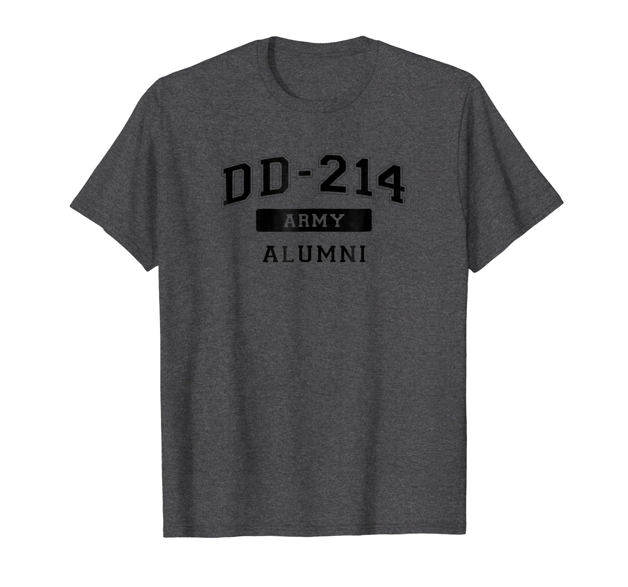 d280d484f Amazon.com: DD-214 US Army Alumni T-Shirt: Clothing