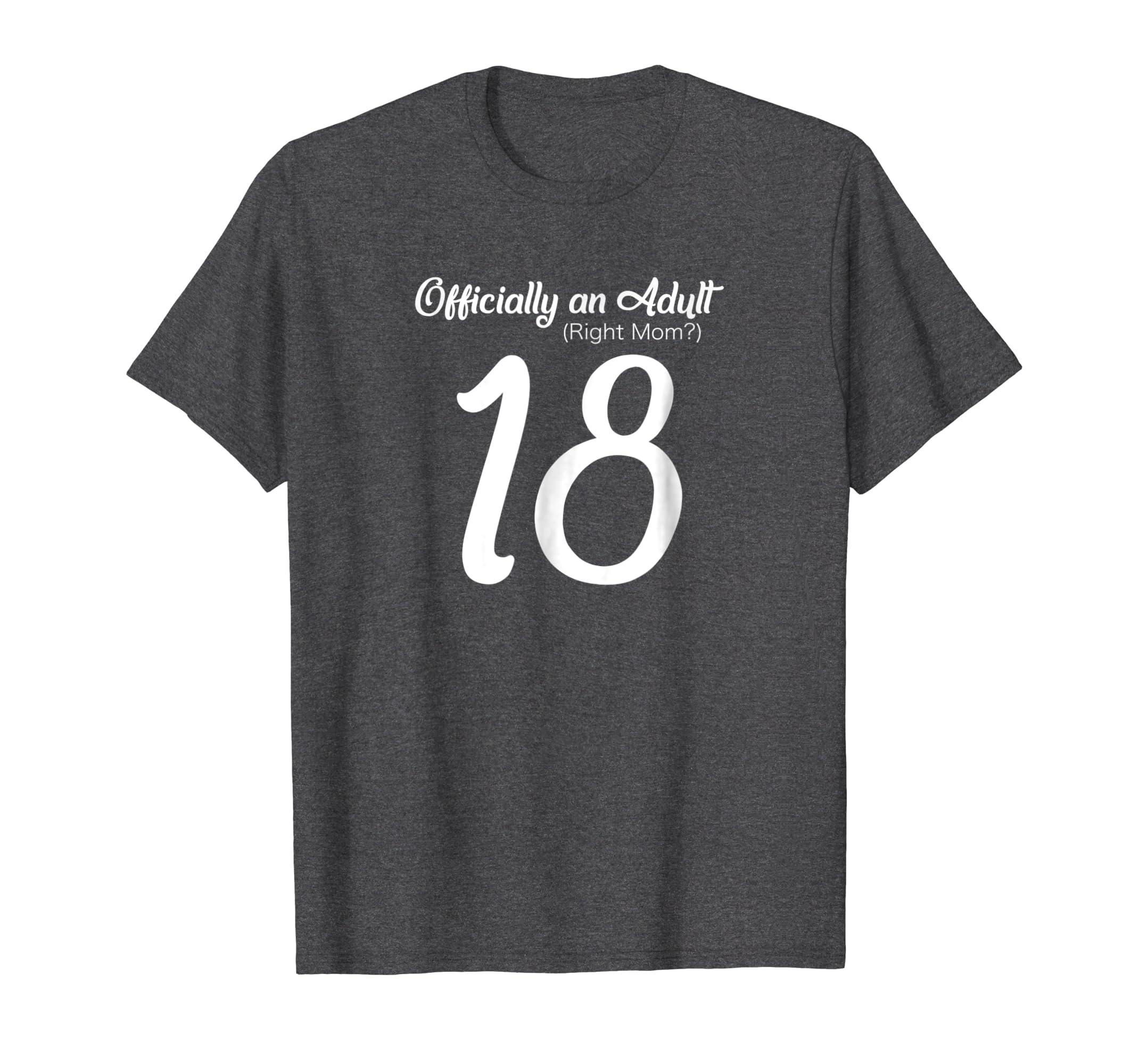 18th Birthday Gift Tshirt for Girls Women Official Adult Tee-Awarplus