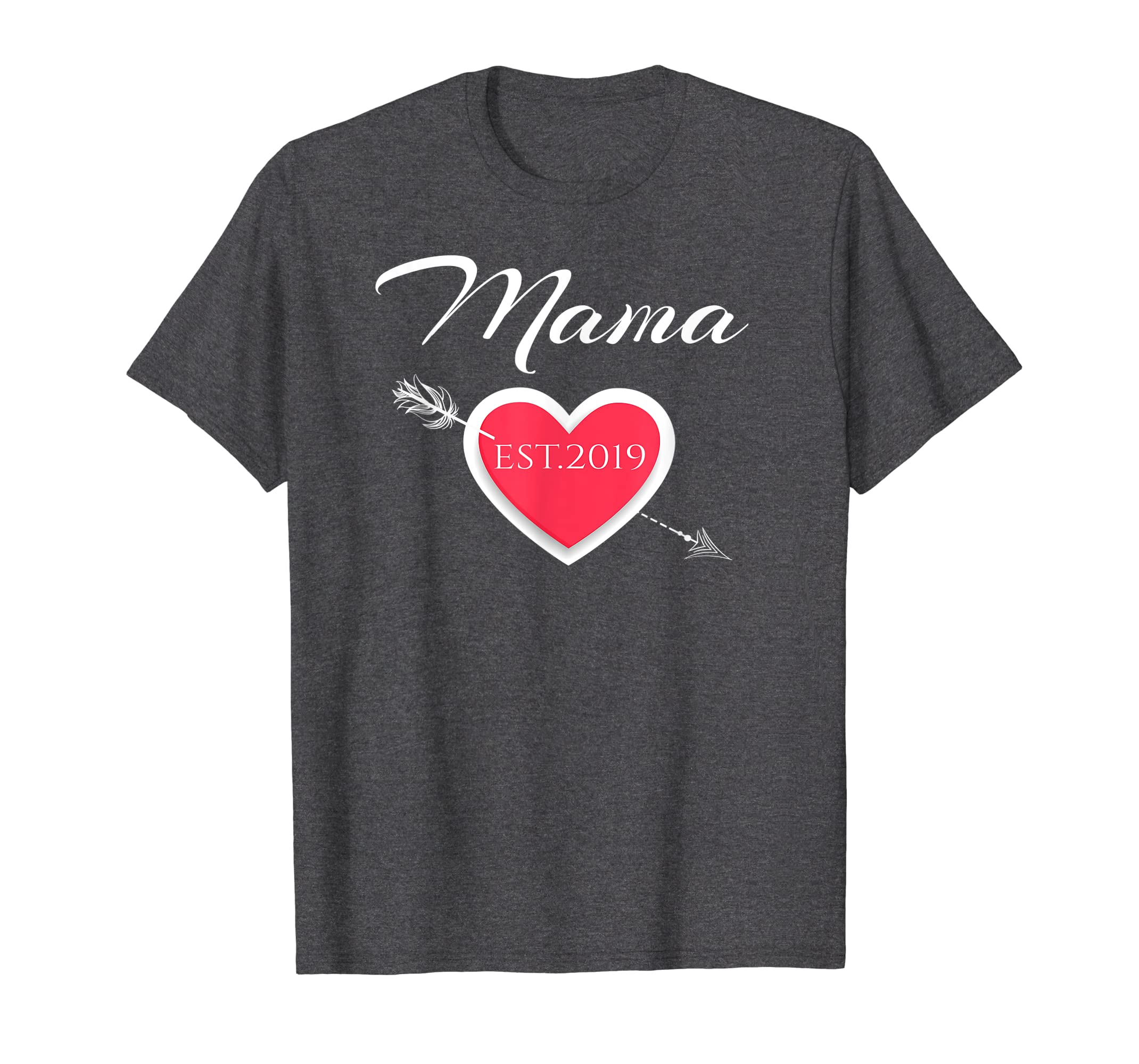 Mama Est. 2019 Moms Gift Shirt for Mothers on Mother's Day-Teehay