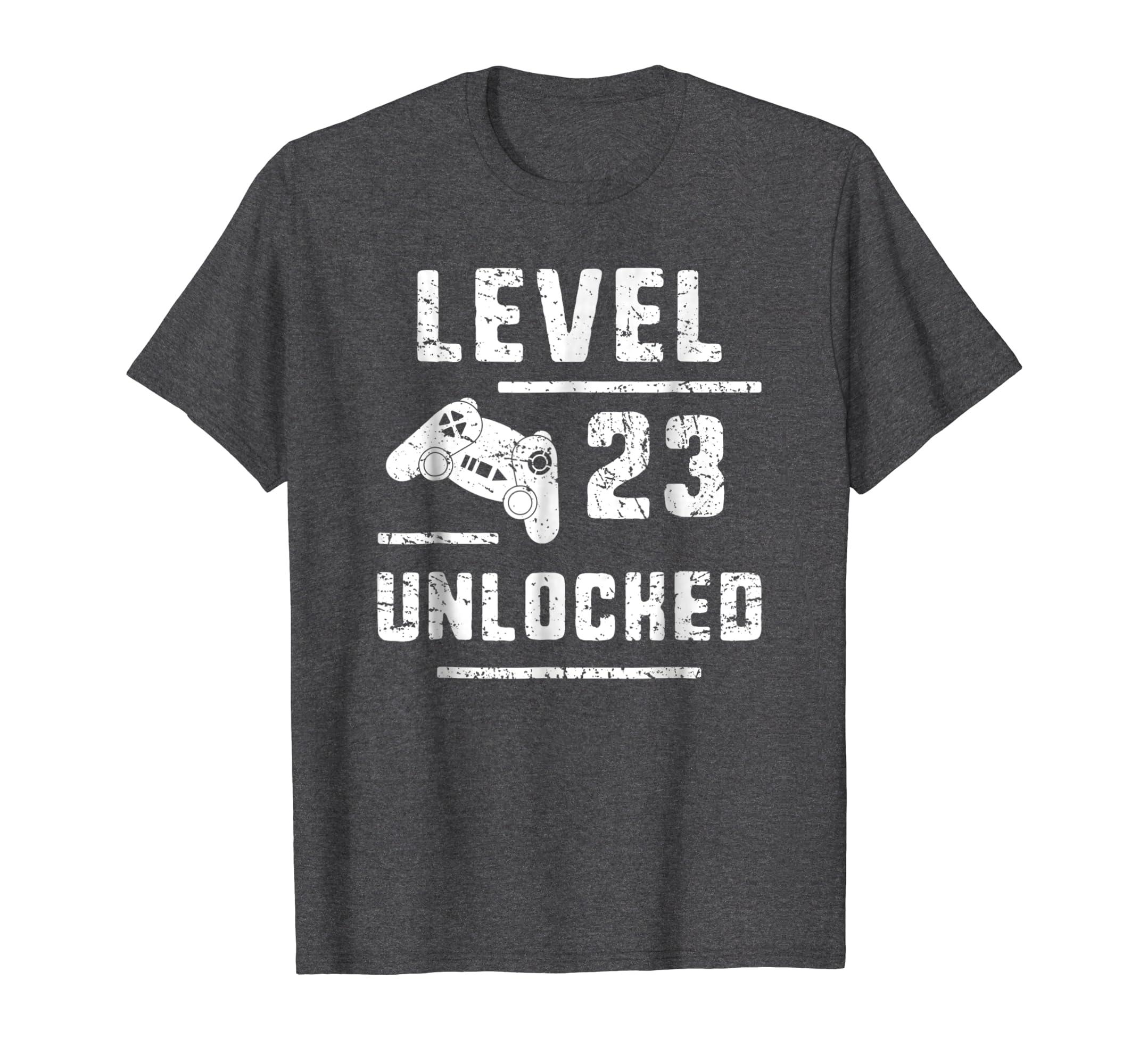 Amazon Gamer Boyfriend 23rd Birthday Gift 23 Yrs Old Gaming T Shirt Clothing