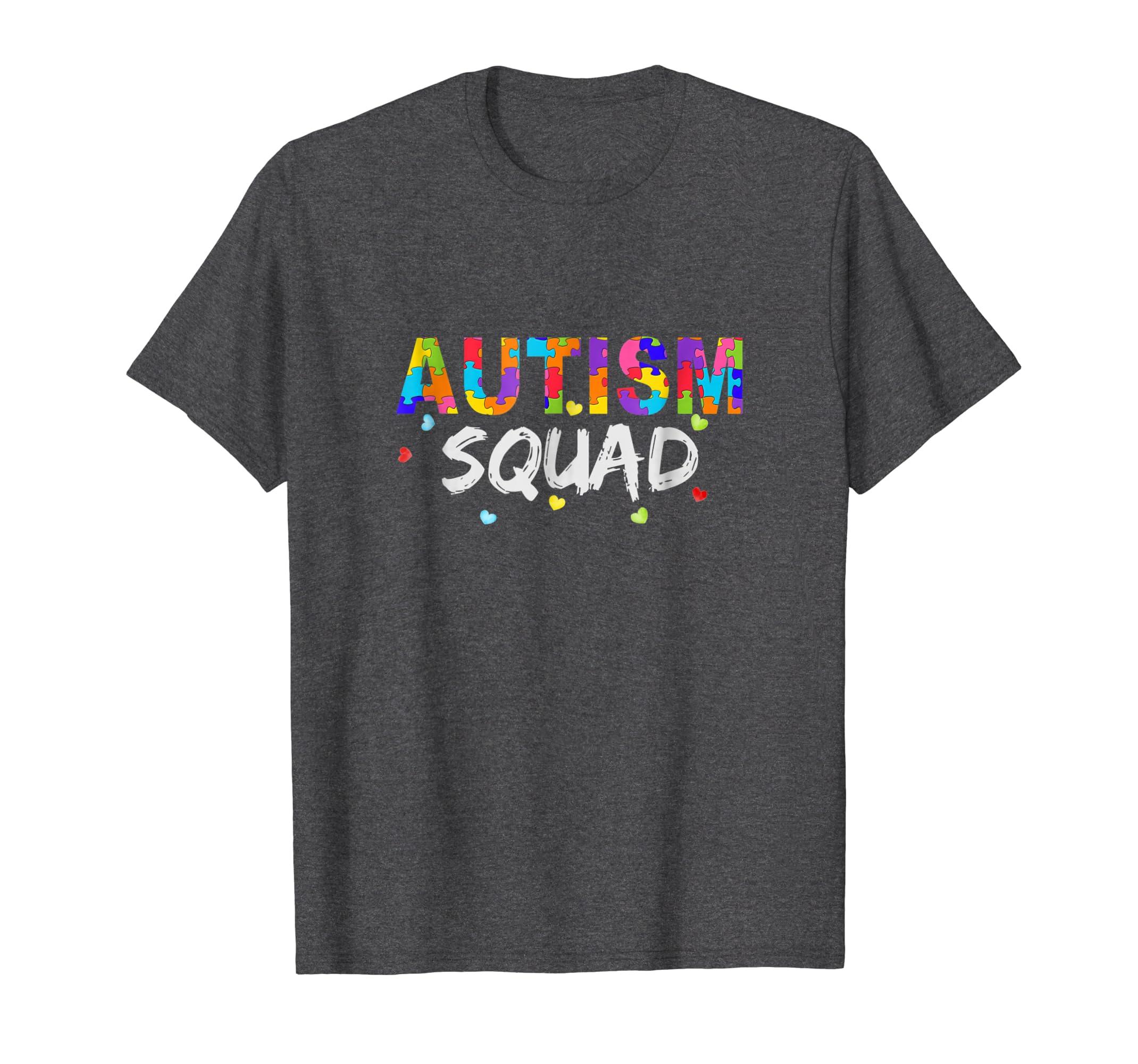 Autism Awareness Shirts Autism Squad Support Team