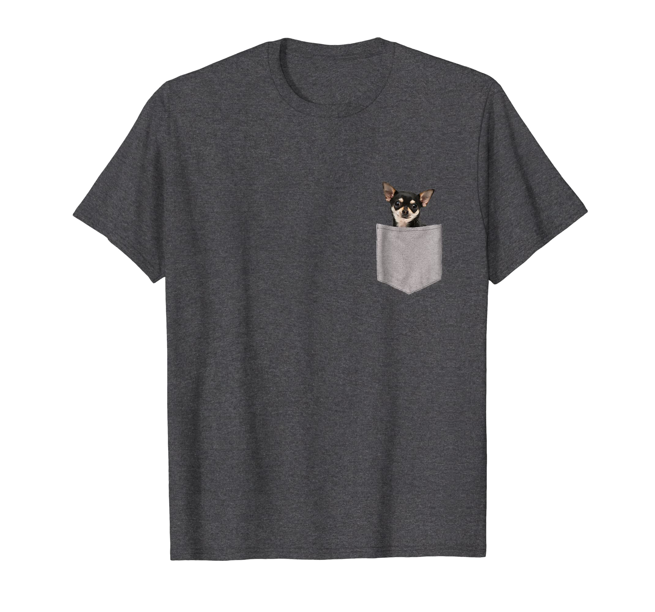 Chihuahua in Pocket T Shirt Chihuahua Lovers Gifts-azvn