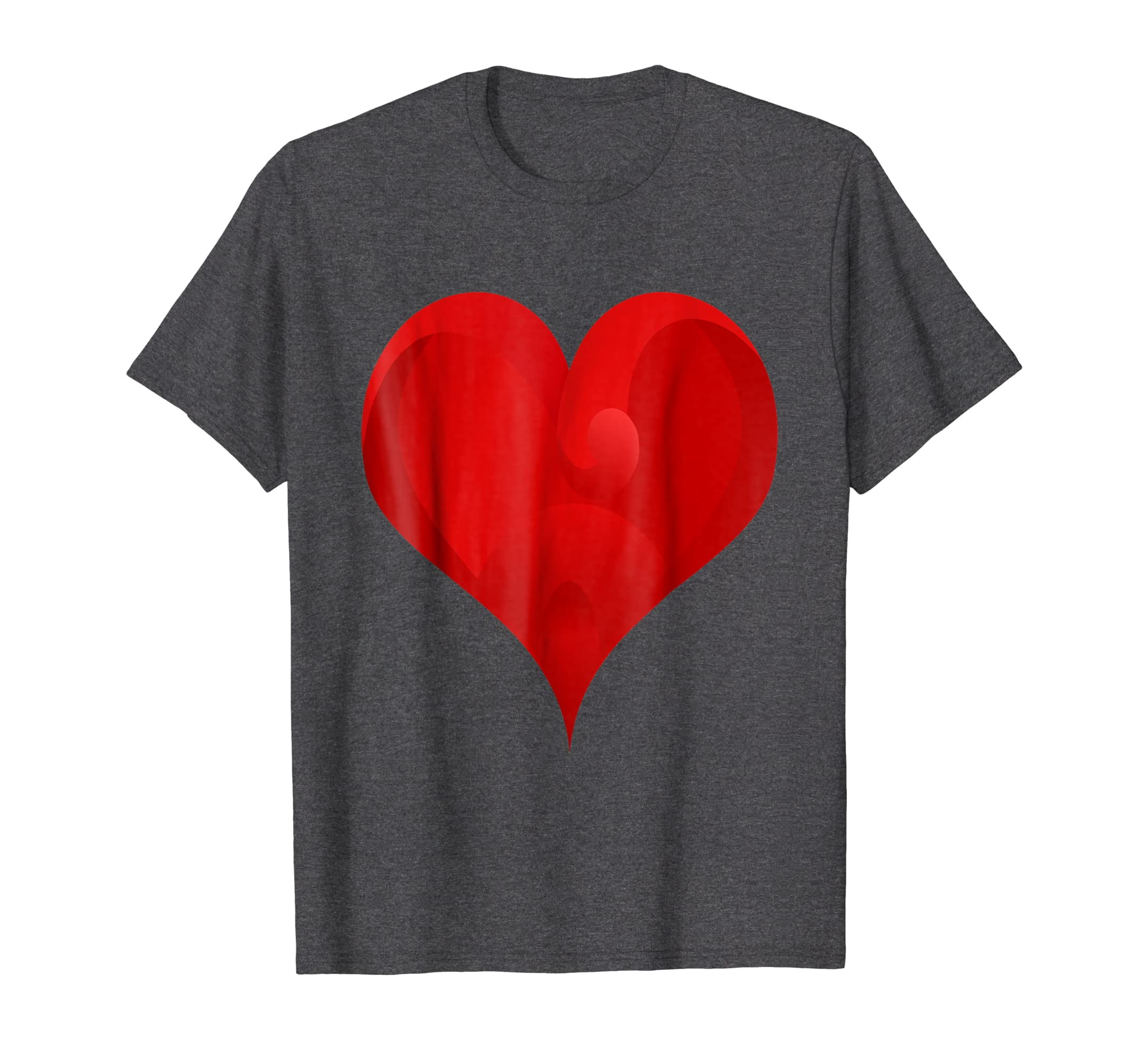 8dbf12559949 Amazon.com  Big Red Heart T-shirt  Clothing