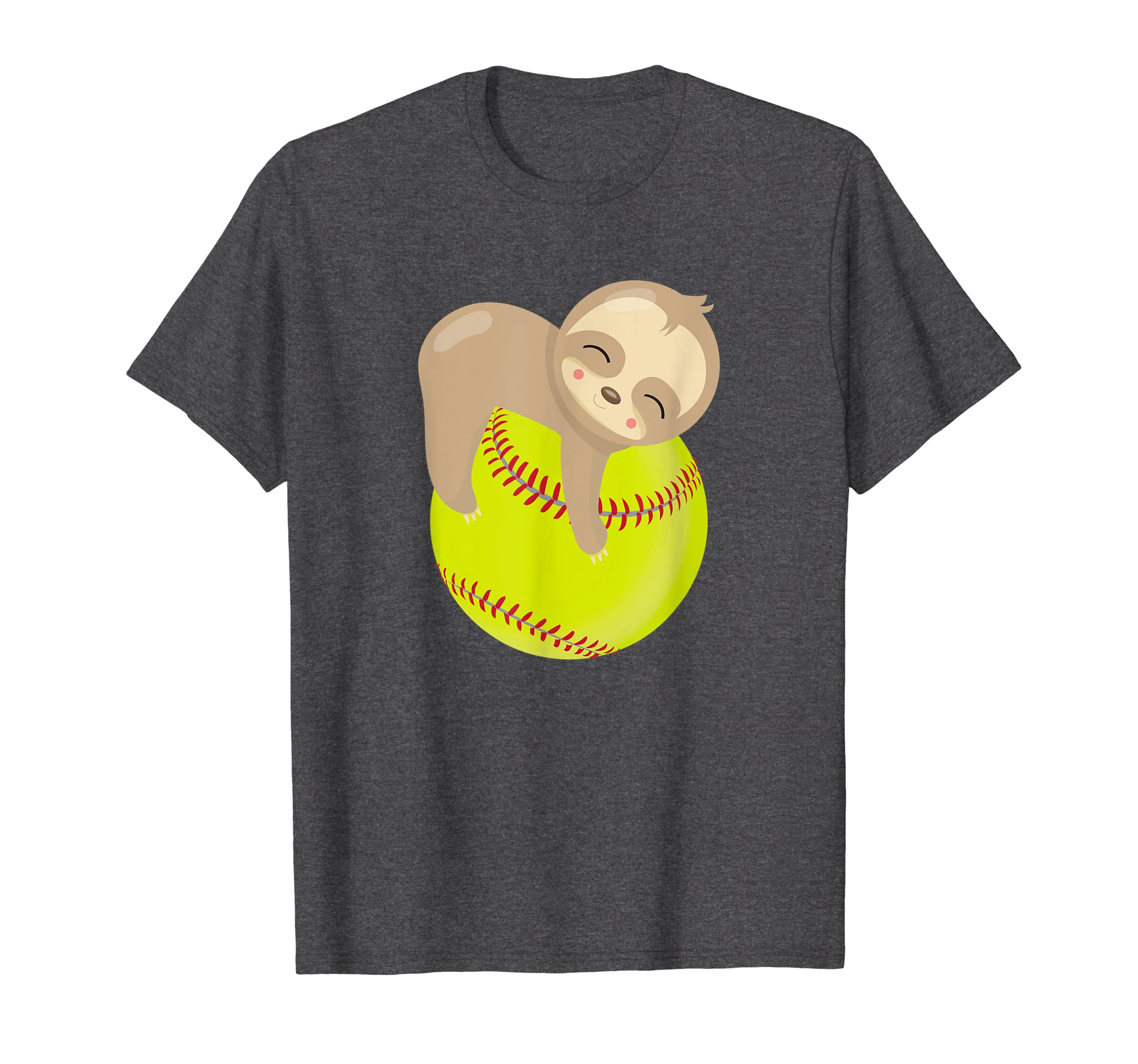 9ca2f7619 Amazon.com: Sloth Softball Shirt - Funny Cute Animal Lover Gift: Clothing