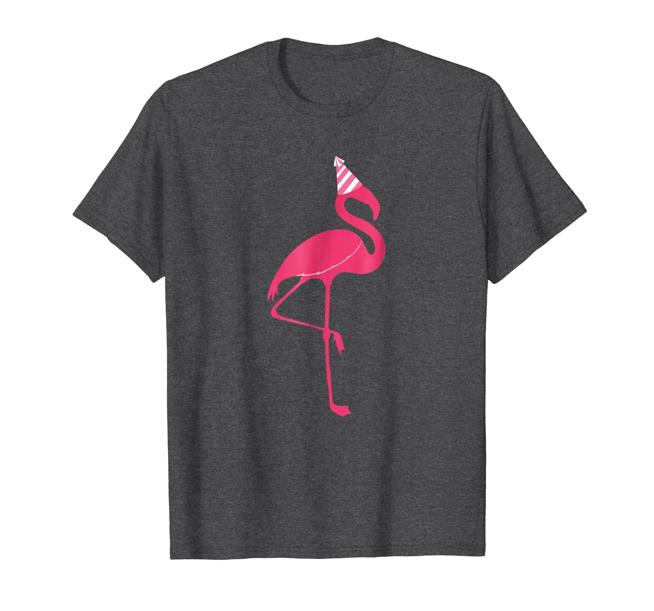 Pink Flamingo at a Party T Shirt-Teesml