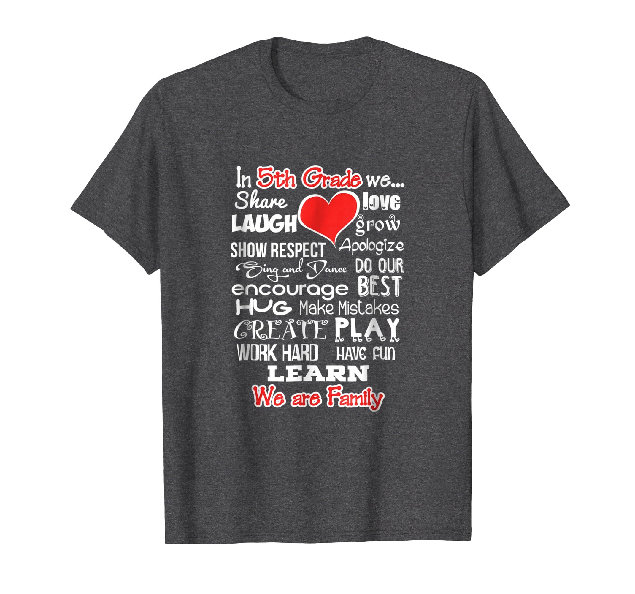 5th Grade We Are Family Fun School Shirt Teacher Team Tshirt