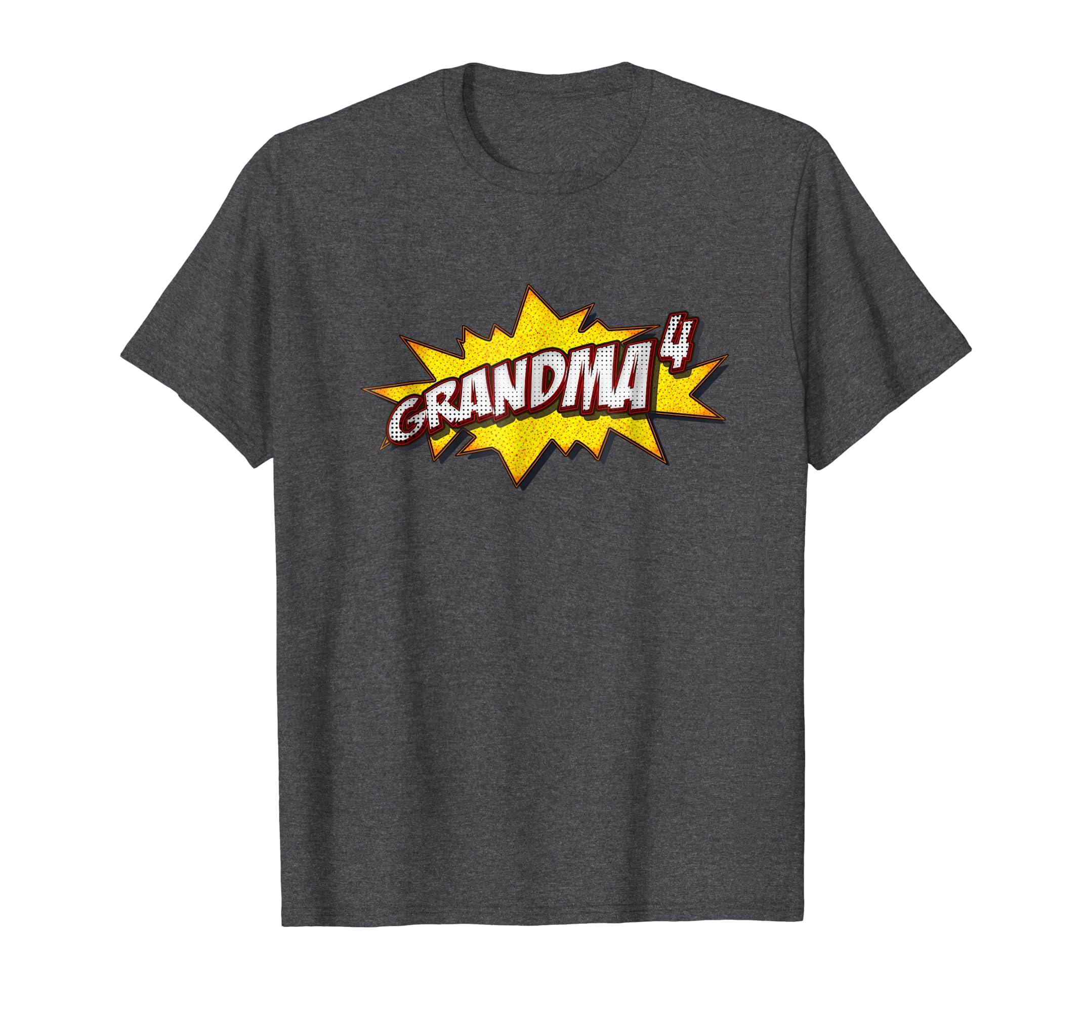 Retro Grandma Of 4 Shirt Quadruplets Grandma Gifts-anz