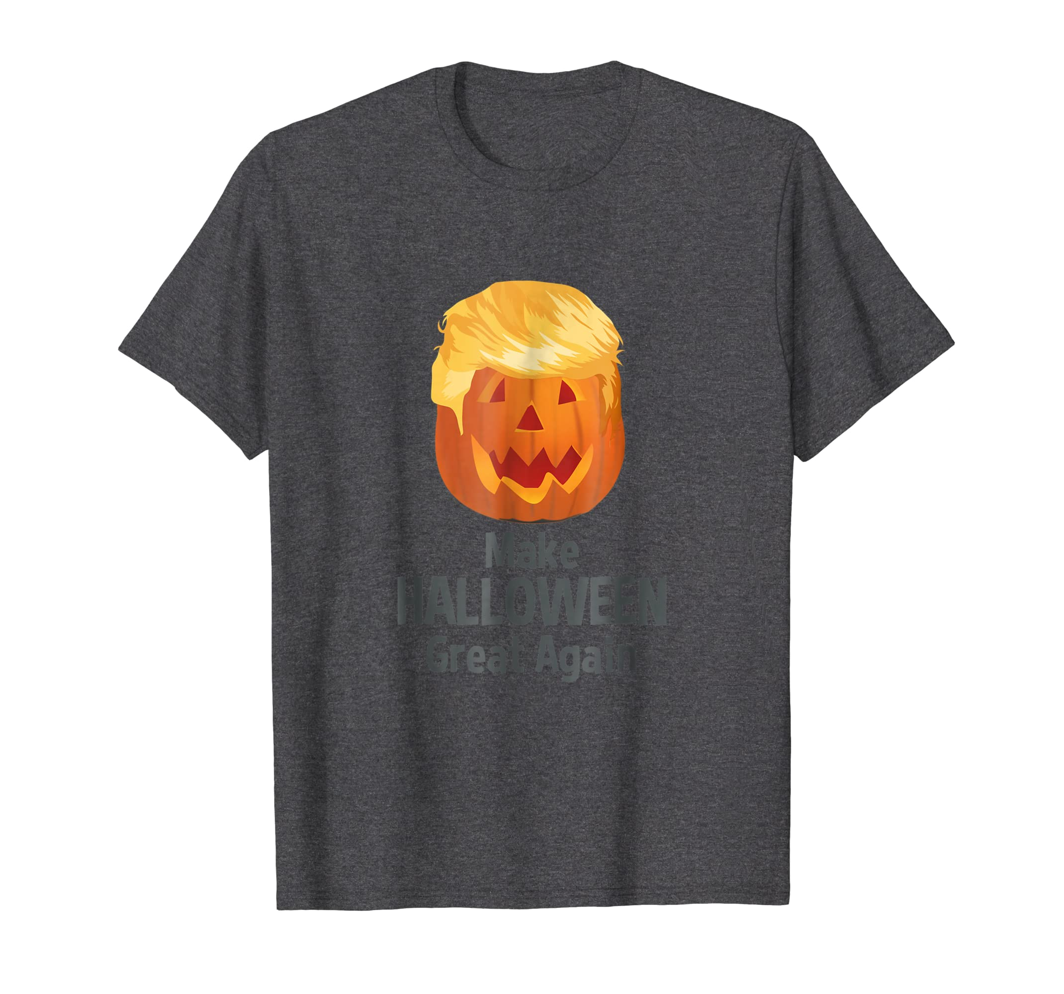 Awesome Make Halloween Great Again Funny Trumpkin T Shirt-Teesml