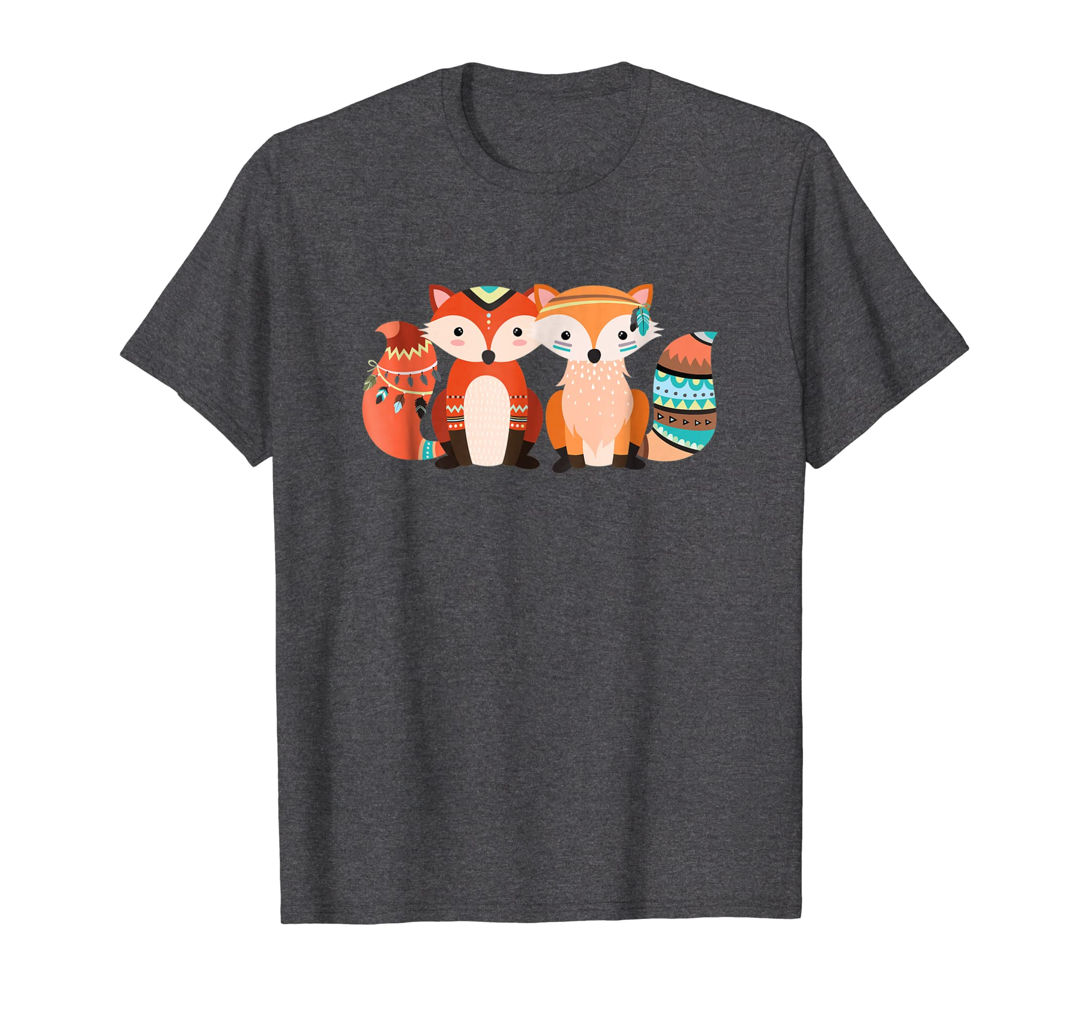 Cute Tribal Pattern Fox | Animal & Nature Lover T Shirt Gift-azvn