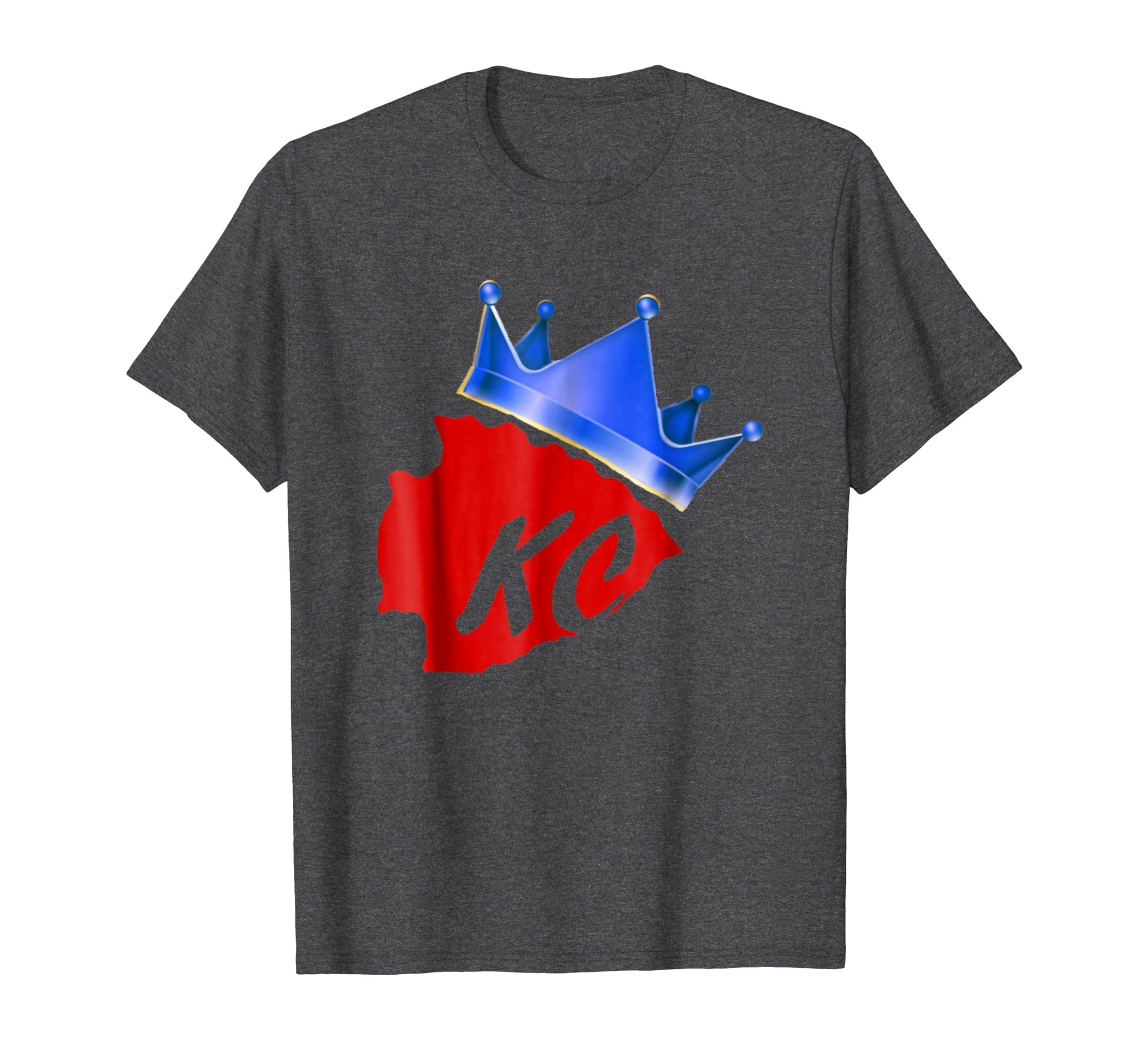 huge selection of 0cfa6 d8e5e Amazon.com: Chiefs Kingdom Royals Hybrid KC Shirt: Clothing