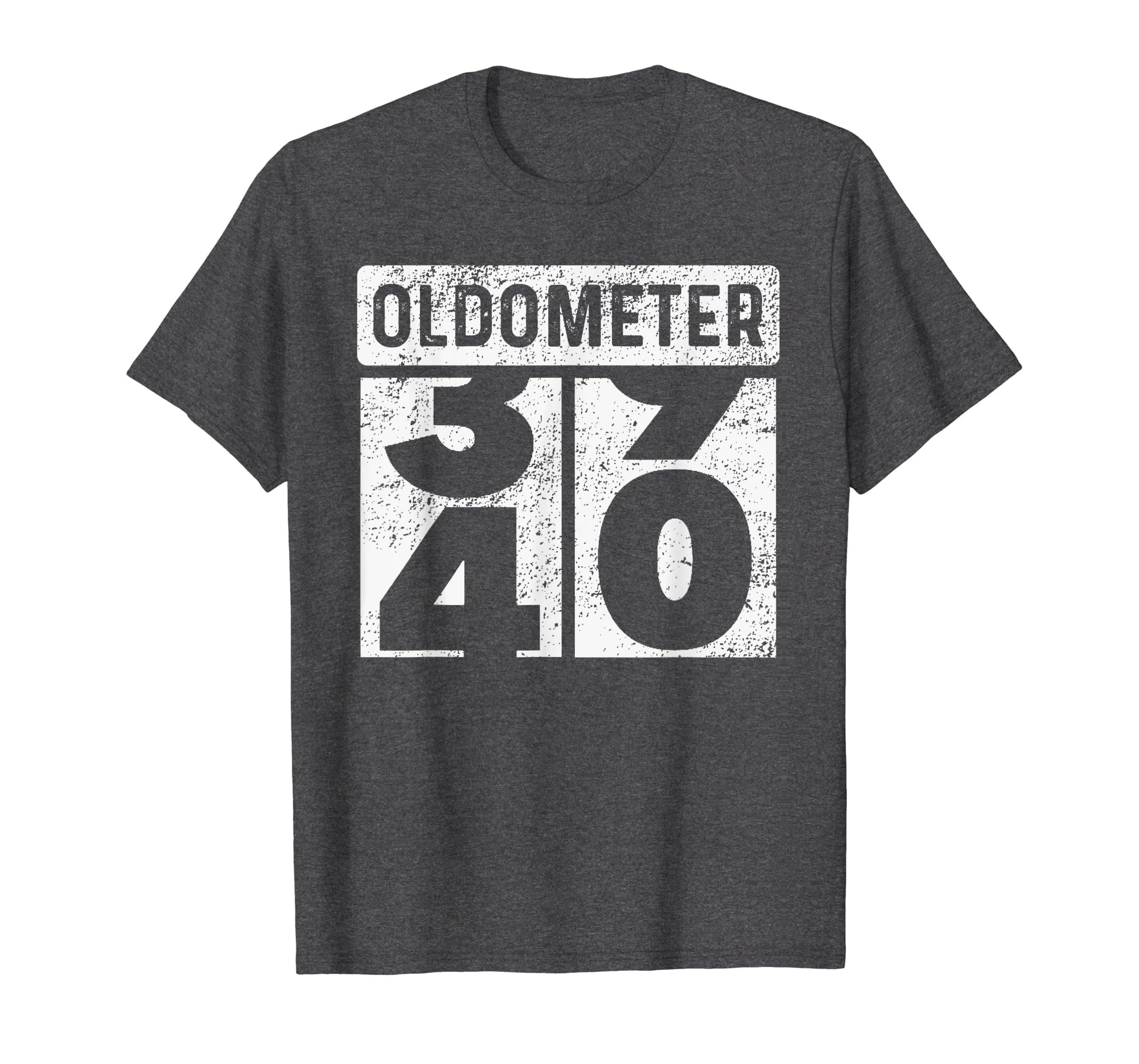 944ac084 Amazon.com: Oldometer Odometer Funny 40th Birthday Gift 40 yrs T-Shirt:  Clothing
