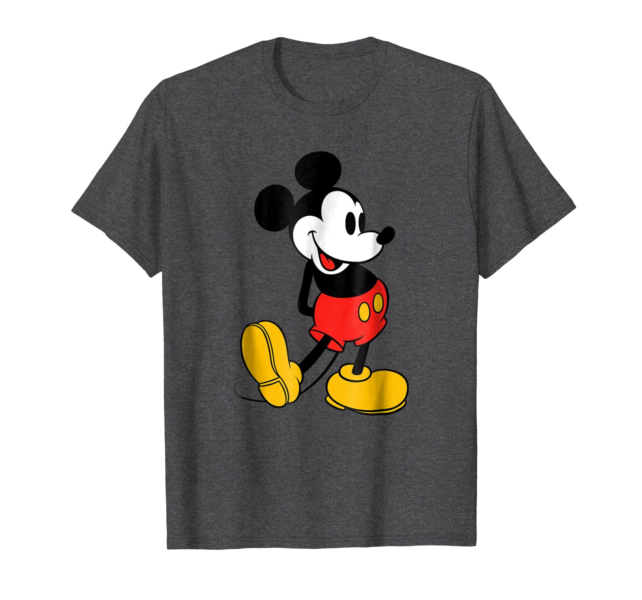 2120cbb77e1 Amazon.com  Disney Classic Mickey Mouse T-Shirt  Clothing