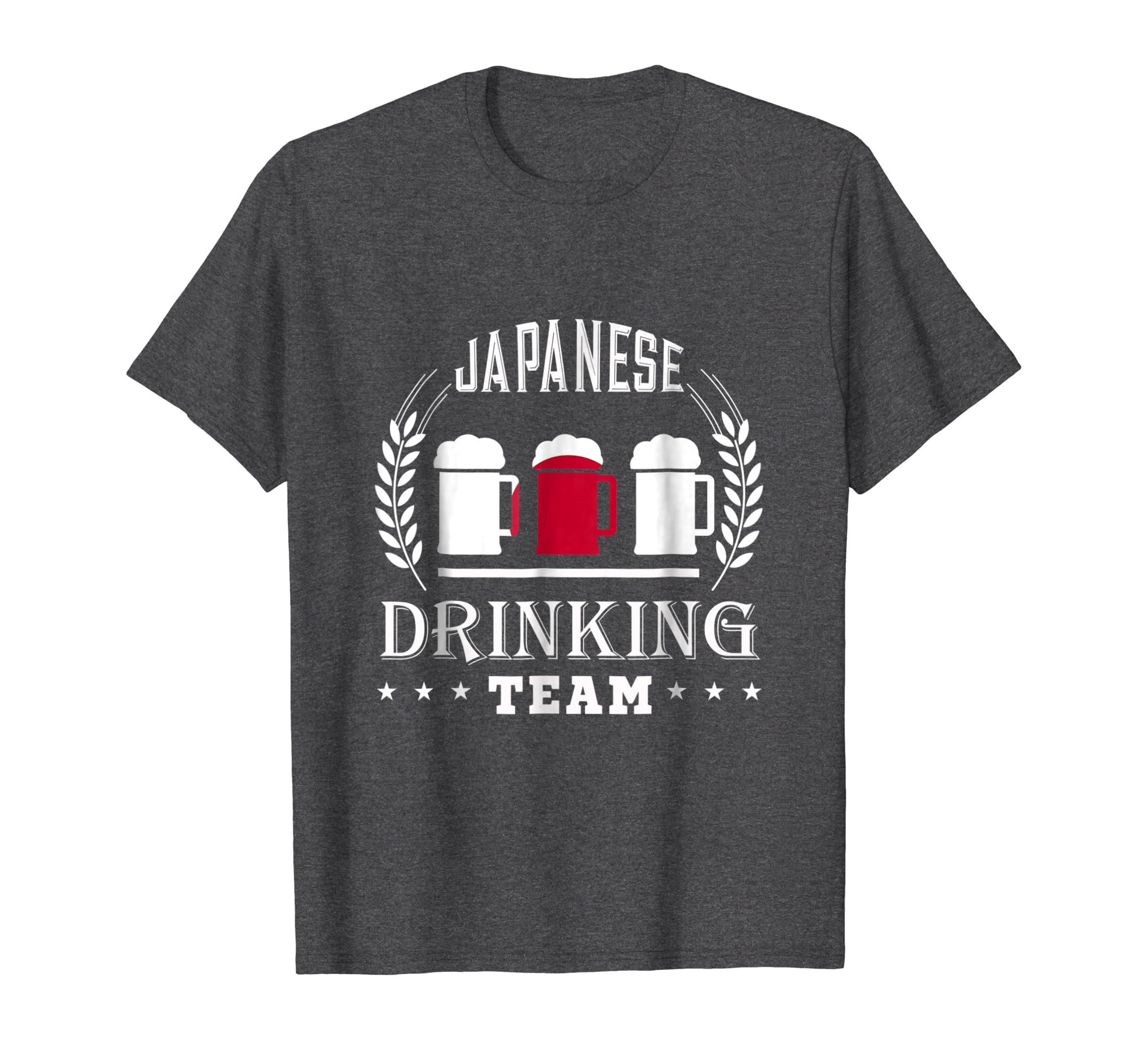 Beer Japanese Drinking Team Casual Japan Flag T Shirt-Awarplus